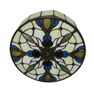 Baroque Style Tiffany Flush Mount Ceiling Light