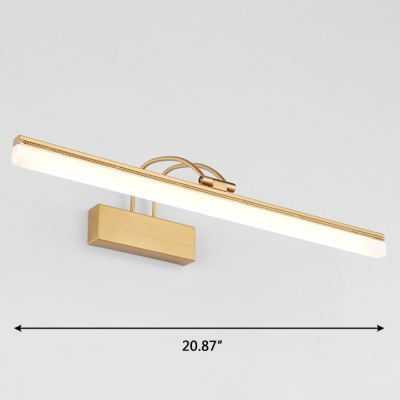 Bright LED Neutral Light Antique Brass Arc Arm Picture Light 8/11/15W Energy Efficient LED Linear Vanity Light Bathroom Gallery Art Work Lamp
