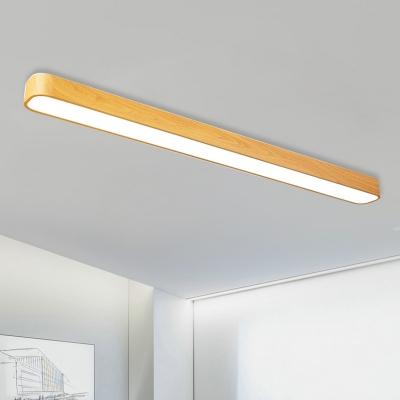 Modern Wood Pendant Light 18w 54w 3000k 6500k Linear