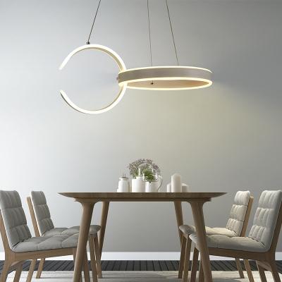 Nordic Style Minimalist 2 Light C Shaped Led Chandelier 78w