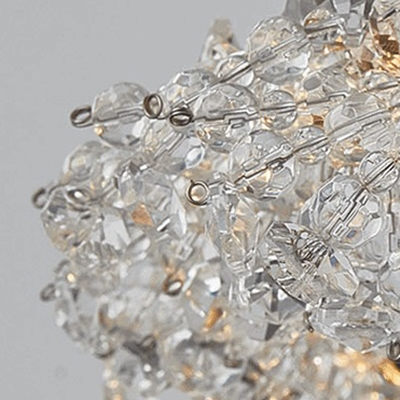 Crystal Beads Decoration LED Ring Pendant Light 15.75