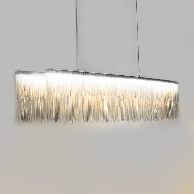 Luxury and Charm LED Stream Pendant Light Silver 39.37
