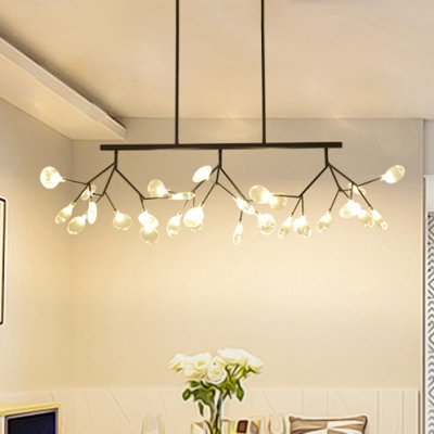 Personality Heracleum LED Chandelier Black/Gold Multi Light 47.24