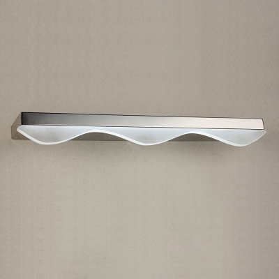 Contemporary Makeup Mirror Bathroom Wall Light 16.93/20.87 Inch Long 6/8W LED Cold White Acrylic Vanity Light in Chrome