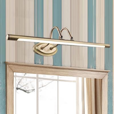 Black/Antique Brass Vintage Wall Lights 18.90in/24.41in Long Brushed Metal LED Cylinder Vanity Light Best Lighting for Bathroom Mirror