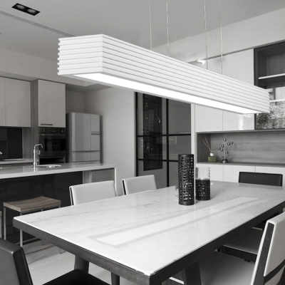 Modern Ceiling Light White Striped Led