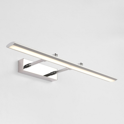 Adjustable Light Modern Bathroom Vanity Light with Swivel Lamp Head 9W-16W LED Neutral Acrylic Vanity Lights in Chrome
