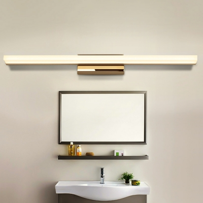Bright LED Ambient Warm White 9W-20W Acrylic Vanity Lighting Modern Bathroom Rectangle LED Vanity Lights in Chrome