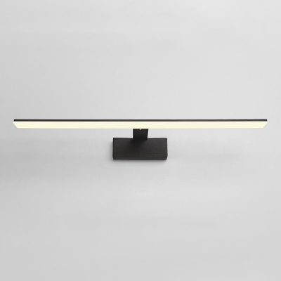 Contemporary Lighting 1 Light Black White Led Linear