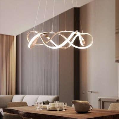 Room Decorative Lights Polished Brass Twist Led Pendant