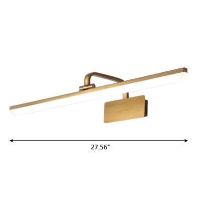 Antique Brass Arc Arm Vanity Light 9W-16W 15.75