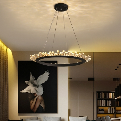 Art Deco Room Lights LED Neutral Light K9 Crystal LED Chandelier 16