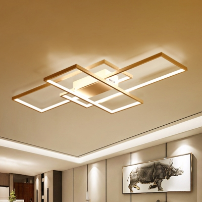 Minimalist Living Room Bedroom Led Rectangular Ceiling