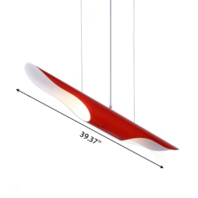 Multi Color Vintage Linear Hanging Pendant Light 39.37