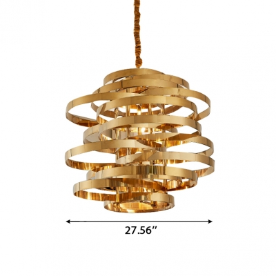Stainless Steel Calligraphy LED Pendant Light Indoor Accent Lighting Post Modern Chaos LED Brass Chandeliers for Gallery Restaurant Cafe
