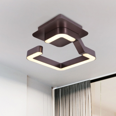 Dining Room Kitchen Bedroom LED Geometric Ceiling Lights 9W-36W 1/2/3/4 Lights Brown Ceiling Fixture in Modern Style