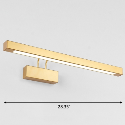 Post Modern Bathroom Vanity Light Antique Brass 9w 16w Led