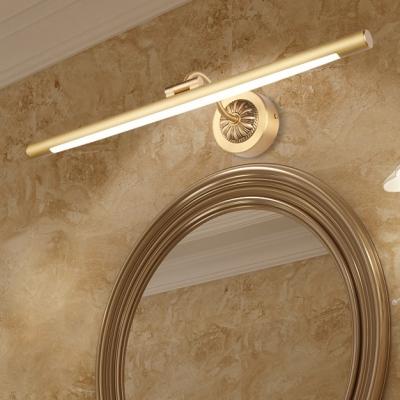 Reversible Black/Gold LED Tube Vanity Light 8/11/15W LED Neutral Adjustable Light Delicate Long LED Linear Lights for Bathroom Mirror