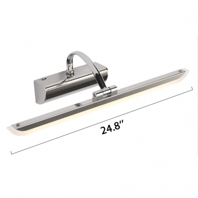 Waterproof Acrylic Vanity Light 9W-16W LED Neutral Light 20.87/24.80 Inch Long Linear Vanity Wall Light in Chrome for Bathroom Cabinet Dressing Room