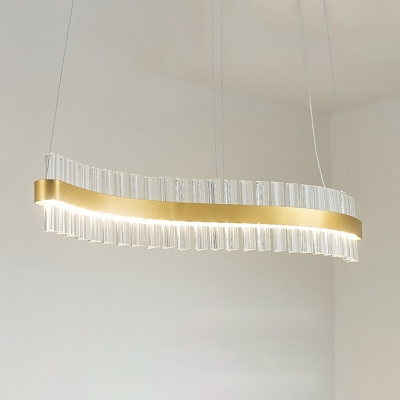 Contemporary Pendant Light Third Gear LED Linear Chandeliers 35.43