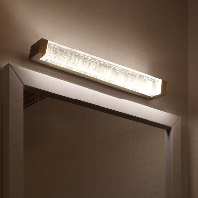 Contemporary Waterproof LED Vanity Lights 6/12W Bubble Glass Linear Vanity Light in Silver Decorative Wall Light for Bathroom Mirror Bedside (12.60