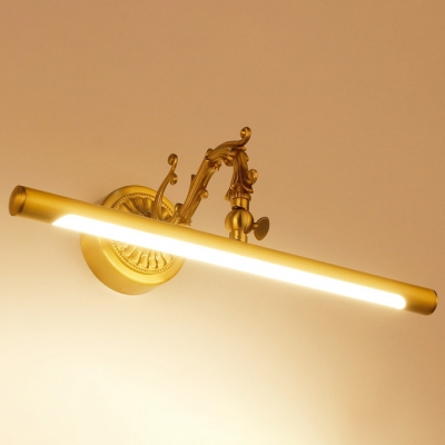 Delicate Vintage Wall Lights Arc Arm Brass LED Bathroom Miroor Vanity Light 9W-16W LED Warm White Picture Lights in Acrylic Shade