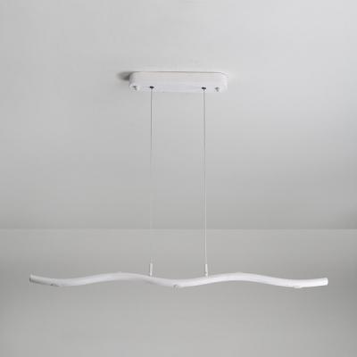 Height Adjustable Art Deco LED Linear Chandelier 15W 33.46