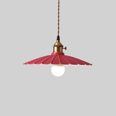 Indoor Single Pendant Light Scalloped Shade Various Colors for Choice