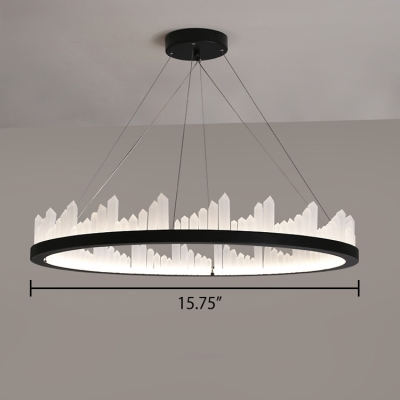 Third Gear Tunable Circular Ring Chandelier 15.75