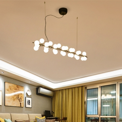 Creative Unique Lights Frosted Globe LED Chandelier Multi Light 25W 41.73