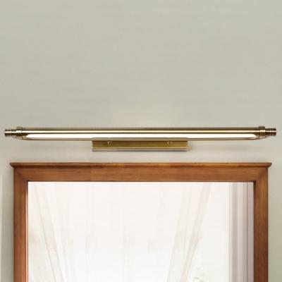 Best Lighting for Bathroom Dressing Room Mirror Waterproof Antifogging LED Tube Vanity Light 6/8/11W Antique Brass Wall Lighting with Acrylic Shade