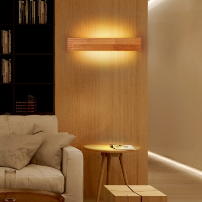 Bright LED Wood Linear Wall Light 13.78
