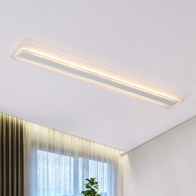 Modern Bubbles Decoration Led Linear Flush Mount Lights 13 90w White Acrylic Linear Ceiling Lamp For Cloakroom Bedroom Kitchen 5 Sizes For Option Beautifulhalo Com