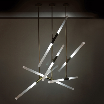 Rotative Tube LED Chandelier 39.37