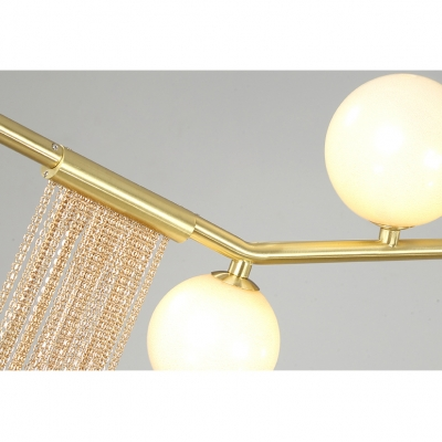 Unique Post Modern Led Long Chandelier 70.87
