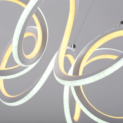Color Changing 1 Light Twist LED Chandelier 9.05