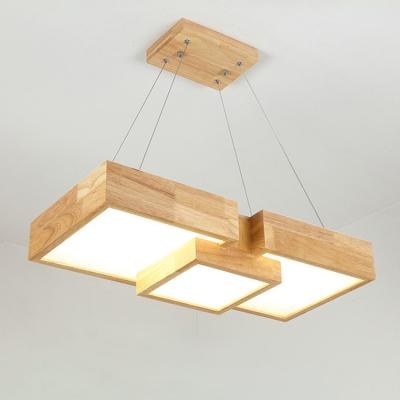 LED Modern Chandelier Lighting Suqare Ceiling Light 36W Acrylic