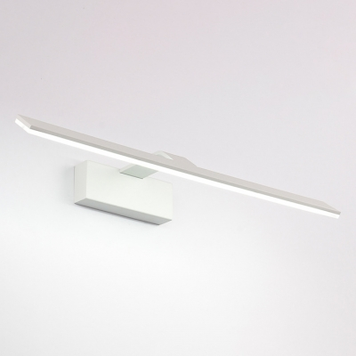 Matte White Acrylic LED Vanity Light Modern Bathroom Over Mirror Lighting 9W-16W LED Warm White Linear Vanity Light 4 Sizes for Option