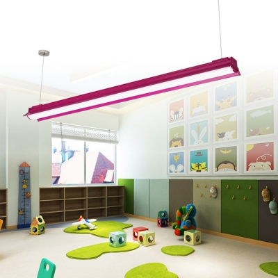 Multi Color LED Linear Hanging Pendant Light 46.46