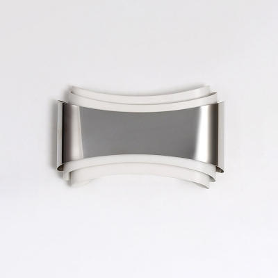 Post Modern Style Abstract Panel Led Wall Sconce Stainless Steel 9.05in Long 5W High Bright Modern Indoor Sconce LED Warm White Light Suitable for Bedsides Balcony Cloakroom Hotel Hallway