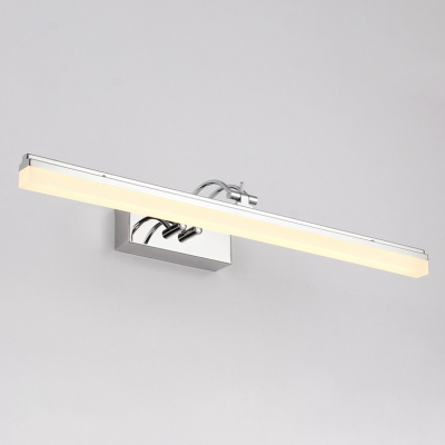 Bedside Bathroom Vanity Lighting 9W-16W High Bright Stainless Steel Arch Arm Chrome LED Bathroom Lights 4 Sizes for Option