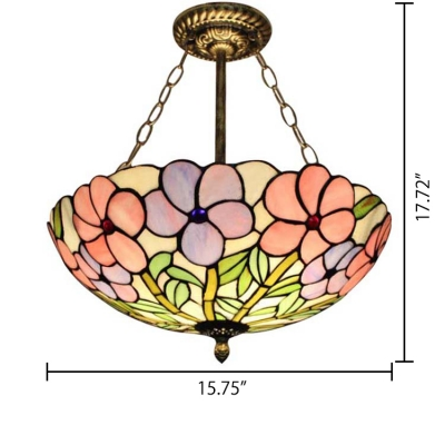Colorful Floral Theme Tiffany Style 16