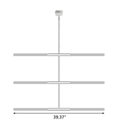 Minimalist Modern Led Linear Pendant Chandelier 39.37