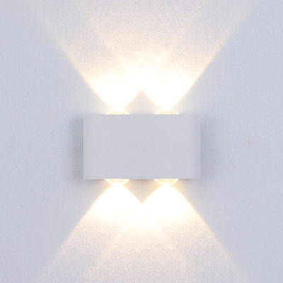 Modern Wall LED Lamp Black/White 2/4 Light  LED UP and Down Lighting Sconces Max 8W 3000K-6000K Outdoor Hallway Bedsides Wall Light