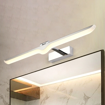 Bathroom Sconce Lights Chrome LED Sabre Vanity Light 9-16W High Performance LED Acrylic Linear Vanity Lighting in Modern Simple Style (16.54