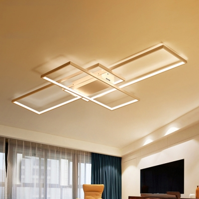 Minimalist Living Room Bedroom LED Rectangular Ceiling Fixture 33.46
