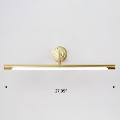 Modern Contemporary Gold Swivel LED Vanity Lights 7/9/11W LED Warm White Neutral Adjustable Light Arc Arm Cylinder LED Mirror Lights