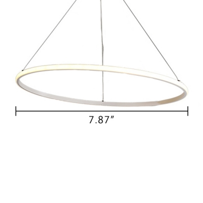 Modern LED Veloce Pendant Light Brown Aluminum Multi Tiered Ulra-thin Ambinet LED Warm White Neutral Light Halo Chandelier for Bedroom Dining Room Living Room