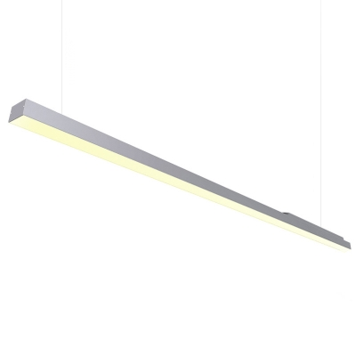 Modern Light Fixture Led Linear Pendant in Black Acrylic Lampshade 48W, Warm White 2700K-6500K Dimmable Led Long Bar Light Business Hall Meeting Room Office  Lighting Designs