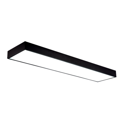 Seamless Connection Modern Black Linear Ceiling Light 20W-40W High Output LED Rectangular Flush Mount Lighting (23.62in/35.43in/47.24in Long)